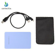 High Quality Slim Portable 2.5 HDD Enclosure USB 2.0 External Hard Disk Case SATA Hard Disk Drives HDD Case Plug And Play(China)