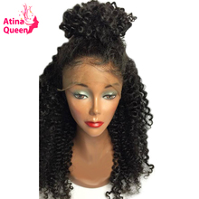 Atina Queen Hair Products Glueless Full Lace Human Hair Wigs for Black Woman Kinky Curly Wig with Baby Hair remy Free Shipping(China)