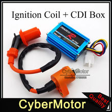 Performance Racing Ignition Coil 5 Pins Wires CDI Box For Honda Dio Elite SA50 SB50 Spree SYM DD50 Arnada Scooter Moped