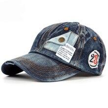 Ht1183 corea del estilo denim Gorras de béisbol hombres mujeres alta  calidad casual SnapBack CAPS Primavera Verano sombreros 6 p. bfddb530132