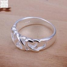 R090 925 Stamped silver plated jewelry Hot sell new design finger ring for lady
