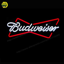Neon Sign New Budweiser 17X12 Glass Neon Sign Beer Bar Pub Arts Crafts Gift Glass Tube Arcade Store Display neon Bulbs Lamp  vd(China)