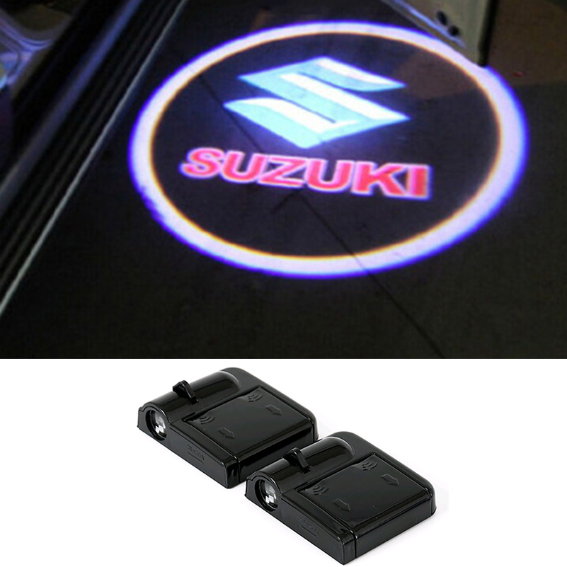 For Suzuki Swift Spoiler Grand Vitara SX4 Jimny Samurai Bandit Alto SV Gsxr GS 500 Liana Splash Hayabusa Led Car Door Logo Light<br><br>Aliexpress
