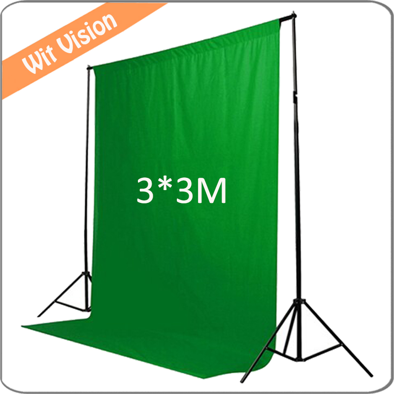 Muslin Solid Green Background Cloth 9.85*9.85 FT Photography Backdrop for Photographic Lighting Studio Portrai<br>