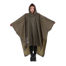 3 IN 1 Waterproof Cape Groundsheet Shelter Festival Poncho Camping Hiking Backpack Rain Cover Raincoat Rain Cape for Men Women
