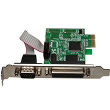 RS232 RS-232 Serial Port COM & DB25 Printer Parallel Port LPT to PCI-E PCI Express Card Adapter Converter WCH382 Chip(China)