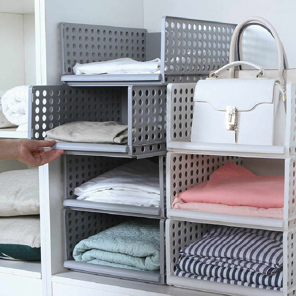 2019 new 1PC modern minimalist creative clothing racks finishing storage basket bedroom bathroom storage basket