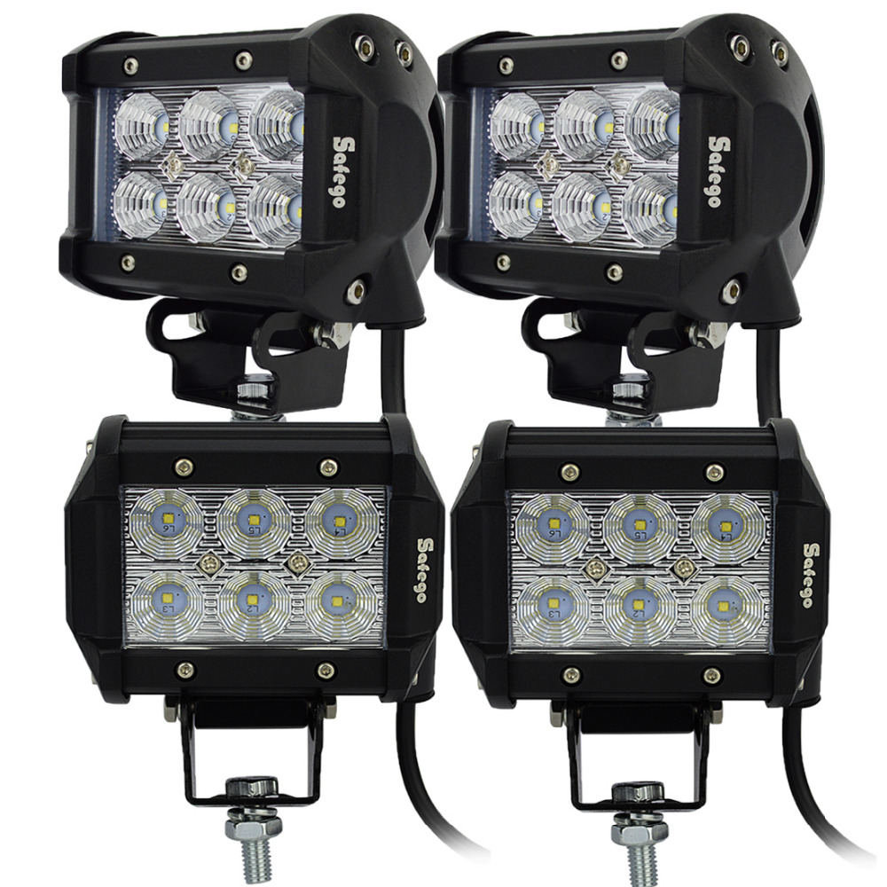 4pcs led 18w working light  Cree  12V led work light Tractor Led Work Llight Truck SUV ATV Spot Flood Super Bright<br><br>Aliexpress
