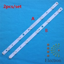 5set/lot 822mm*17mm 10leds LED Backlight Lamps Strips DLED40GK4X10 w/ Optical Lens Fliter for 40 inch TV Monitor Panel Brand New
