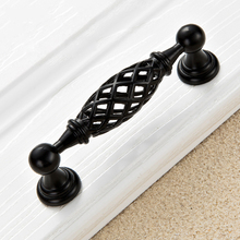 5pcs Black Birdcage Door Handle Antique Furniture Knobs and Handles for Kitchen Cabinets Vintage Closet Handle Drawer Pull