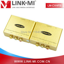 LINK-MI LM-CVHFB Single Cat5e/6 NTSC PAL SECAM CVBS Composite Video/Stereo Hi-Fi Audio Balun Extender