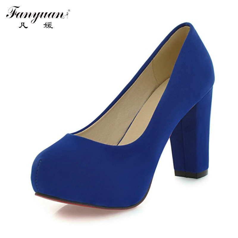 New Arrivals 2017 Fashion Shallow Thick High Heels Round Toe High Heels Platform Pumps Shoes Sexy Buckle Strap Pumps Hot Sale<br><br>Aliexpress