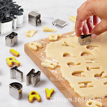 26 Pieces/set Stainless Steel Letter / Alphabet Cookie Cutter Biscuit Cutters Baking Accessories(China)