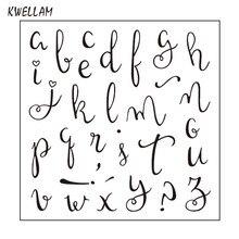 Буквы английского алфавита записки DIY карт фото штамп ясно штамп прозрачный штамп 10x10 см KW7111101(China)