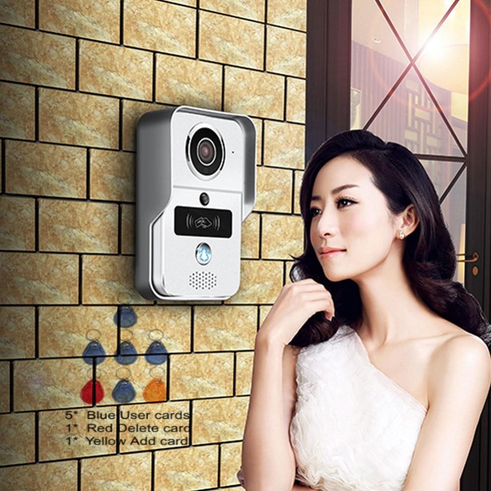 WiFi Video Door phone intercom Doorbell Wireless Unlock Peephole Camera Doorbell