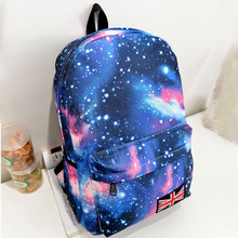 New Fashion Women Bag Galaxy Pattern Printed Backpacks Unisex Travel Backpack Canvas Leisure Bags School Female Bag
