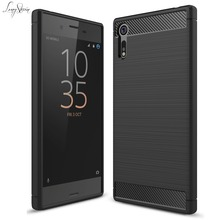 Buy Long StevenFor Sony XZ Case Ultra Thin Carbon Fiber Pattern Lightweight Protector Laminating Cover SONY Xperia XZ Case for $4.29 in AliExpress store