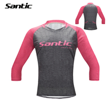Buy Santic Women Cycling Jersey Half Sleeve Bicycle Jersey Urban Leisure MTB Road Bike Shirt Cycle Jersey Tenue Cycliste Femme for $23.28 in AliExpress store