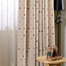[dot] new high precision linen jacquard shade cloth curtain blackout curtains colorful dots curtains for bedroom and living room