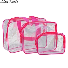 Xiniu Transparent Cosmetic Bags Waterproof Women Makeup Bag Pouch Wash Bath Supplies Cosmetic Case Sac Maquillage #2912