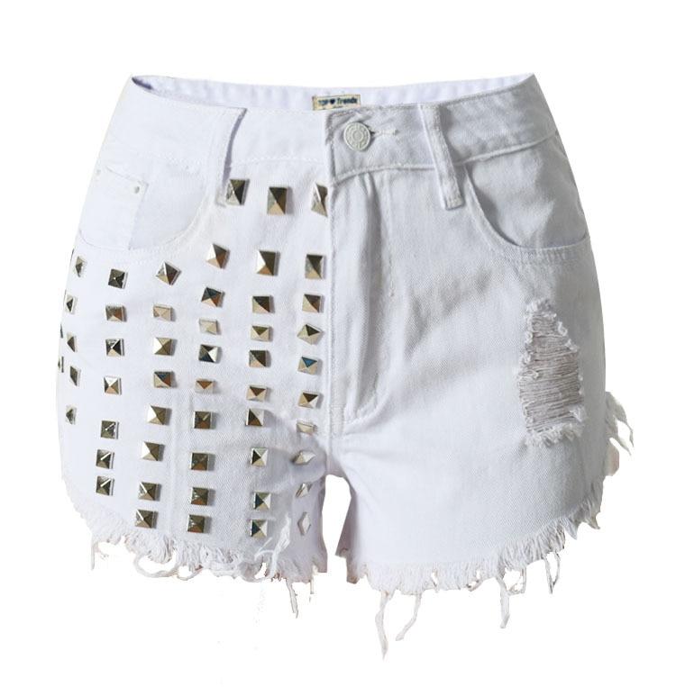 Summer Fashion 2017 Vintage Hole Rivet Shorts Jeans Woman Scratched Short Jeans For Women Jeans Mujer Femme Denim Jean PantsОдежда и ак�е��уары<br><br><br>Aliexpress