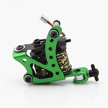 One Custom Aluminum Alloy 10 Wrap Coils Tattoo Machine Gun for Liner Shader STM-6014B