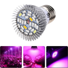 Flores full spectrum 28 w e27 led grow light kit planta hidroponía veg flor lámpara blub clh