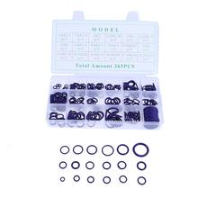 265Pcs/Box 18 Size Car Auto HNBR Air Conditioning Rubber O Ring Assortment Kit Automobiles Sealing Ring Set with Plastic Case