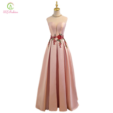 Robe De Soiree The Bride Banquet Evening Dress SSYFashion New Luxury Satin Lace Up Floor-length Slim Party Formal Dresses Custom