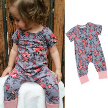 Imported baby clothes Toddler Newborn Baby Girls Floral Print Romper Jumpsuit Outfits Clothe  fashion cute infantil lowest price