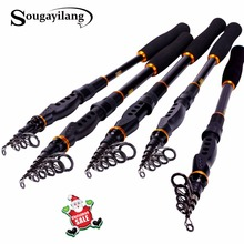 Sougayilang Telescopic Fishing Rod Spinning Fishing Rod Carbon Fiber Material 1.8-3.6m Portable Fishing Rod Tackle De Pesca(China)