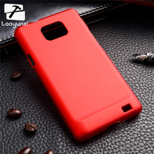 Protectiver Phone Rubber Oil-coated Matte Phone Cases for Samsung Galaxy SII I9100 4.3 inch S2 GT-I9100 Case Hard Plastic Bag