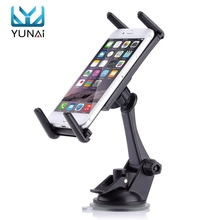 YUNAI Universal 6-9inch Car Bottom Console Sucker Bracket Tablet Holder Stand For iPad For Sumsung New Stand Holder For GPS