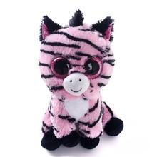 Original Ty Beanie Boos Tess Tiger Plush Toy Boneca 6''15cm Big Eyed Stuffed Animals Kids Christmas Soft Toys for Children Gift