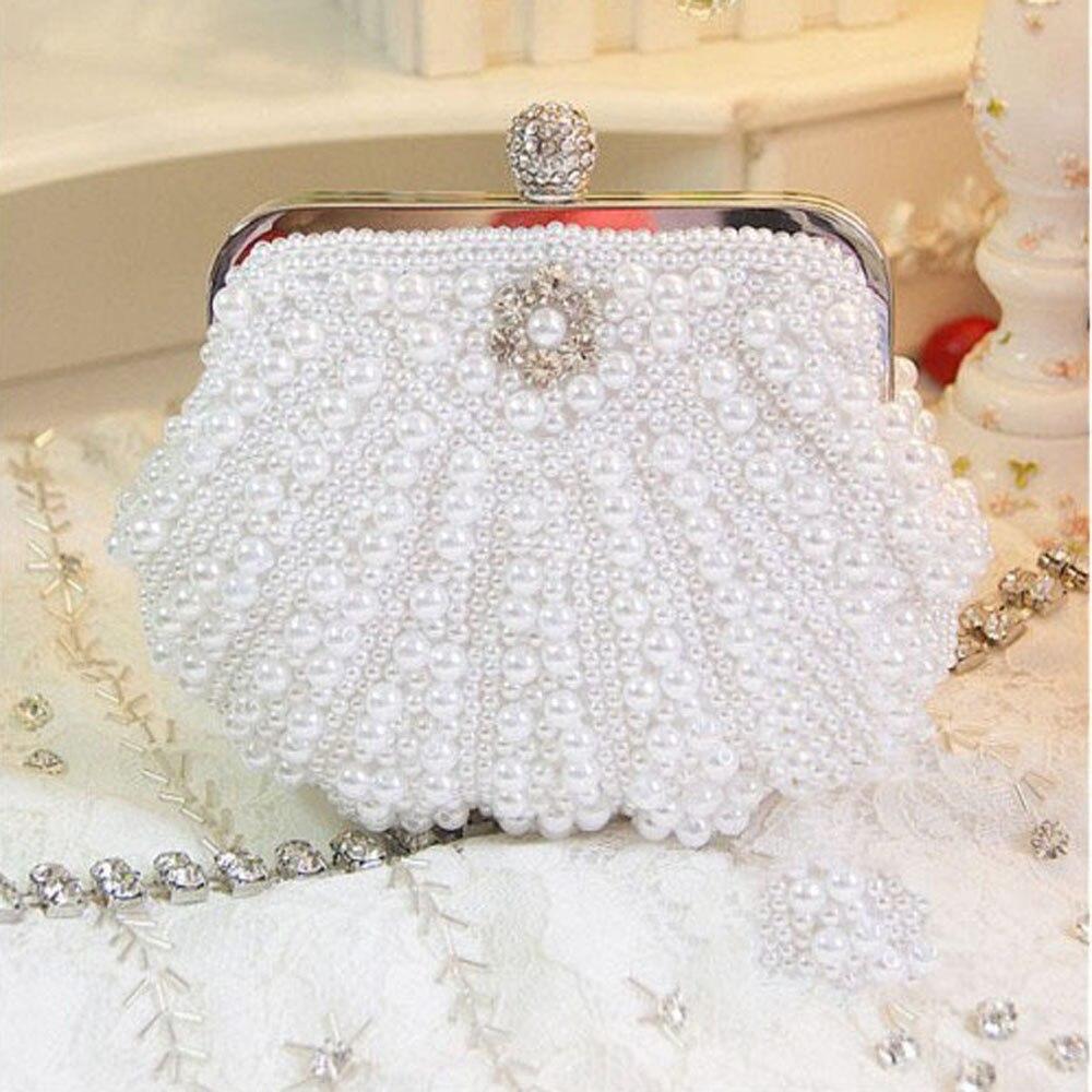Shell-Shaped Luxury Two Sided Crystal Evening Clutch Bag Elegant Women Handbag Wedding Bridal Handbag Purse Female Messenger Bag<br><br>Aliexpress