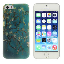 [Buy 3 get 4] Soft Silicone Case for Apple IPhone 5 5S 5SE 4.0 inch Cover Back Protector Ultra Thin Gel Bag Shell, flowers