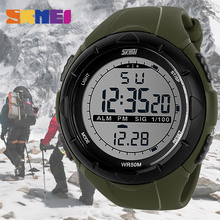 Skmei 1025 Men Sport Watch Outdoor Military LED Digital Wristwatches Stop Watch EL Light Auto Date Relogio Masculino(China)