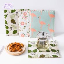 Cloth insulation mat mattress creative coaster bowl mat cotton and linen cup coaster cup mat mattress pad(China)