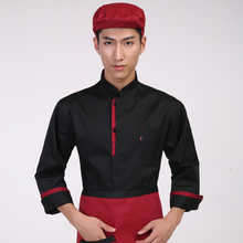 Hotel Chef's Jacket Long Sleeve Hotel Kitchen Uniform  Chef Uniform Work Wear for Men and Women