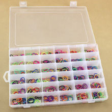 Free Shipping Useful 36 Grid Plastic Adjustable Jewelry Organizer Storage Box Container Case High Quality