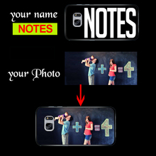DIY Custom Name Photo Personalized Rubber Cover Case for Samsung Note 2 3 4 5 7 s3 s4 s5 mini s6 s7 Edge Plus active Silicon