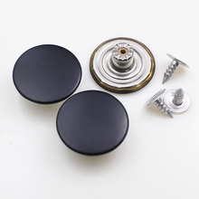 17mm 20mm Black color Plain Copper Brass jeans button shank button for garment pants sewing clothes accseeories handmade(China)