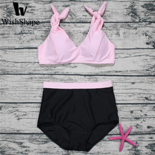 Buy Sexy Brazillian Bikini Set Push Swimwear 2018 Summer Biquini Female Bandage High Waist Swimsuit Beach Swimming Bathing Suit