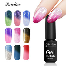 Saroline Soak Off Gel Lacquer 29 Color Changing Gel Polish Chamelon 1pcs Hybrid Nail Paint Temperature Changing Color