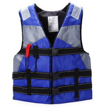 Adult Lifejacket Professional Swimming Jackets Snorkeling Clothes Buoyancy Adult Life Vest For Fishing Life Jacket With Whistle