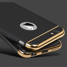 Ultra Thin Shockproof Cover Cases for iPhone 7 case Luxury 6s 7 Plus 5S 5 Plating PC 360 Degree Cases for iPhone 6 Case Coque 35