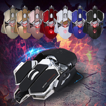 G10 LED Backlight Optical USB Wired Gaming Mouse 4000DPI Macro programming 10 Buttons 8 Colors for Laptops PC(China)