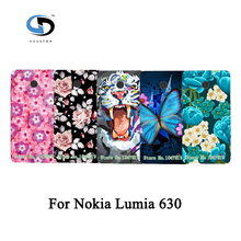 Beautiful Painted Rose Peony Flower Floral Drawing Hard Plastic Case For Nokia Lumia 630 Case Skin Shell Hood Cover