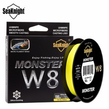 SeaKnight MONSTER W8 150M Fishing Line Braid 8 Strands Smooth Super Line PE Multifilament Wide Angle Technology Braided 20-100LB