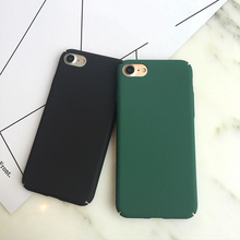 for iphone 6 case Ultra Thin Solid Color Scrub Plastic Hard Back Cover for iphone 6 6s 7 plus Case Coque Phone Cases